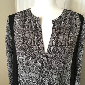 BCBG Max Azria snake print dress